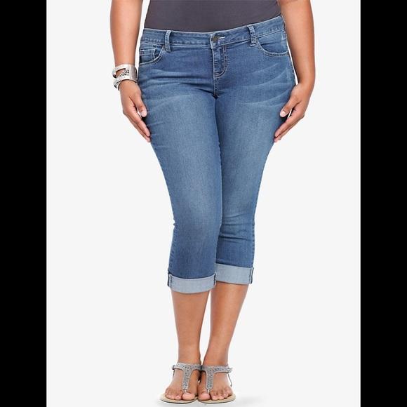 torrid Denim - TORRID Cropped Skinny Jean - Medium Wash